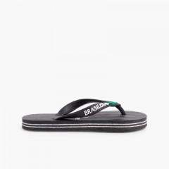Brasileras Flip-Flops Black