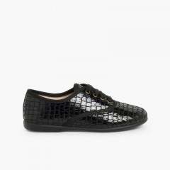 Coco Blucher Shoes for Girls and Women Black