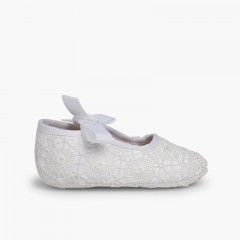 Angel-style Crochet Baby Shoes White