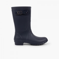 Mid-Calf Wellies For Women and Children  Navy Blue