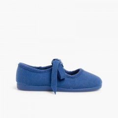 Faux Suede Angelitos Mary Janes by Norteñas  Deep Blue