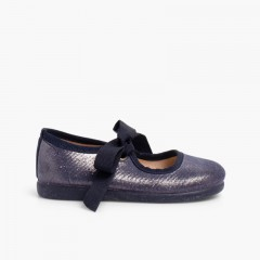 Sparkling Mary Janes for Girls  Navy Blue