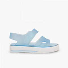 Rubber sandals Malibu sneakers style Sky Blue