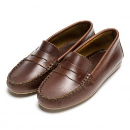 Boys Leather Mask Slip-on Loafers