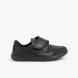 Boys' School Shoe with Reinforced Toe  Black
