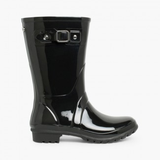 Mini Glow Wellington Boots for Women Black