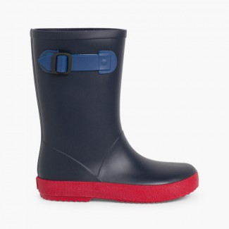 Splash Tricolour Wellies for Kids Navy Blue