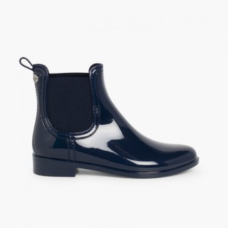 Chelsea Short Wellies by Igor Navy Blue