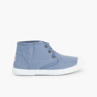 Canvas High Top Trainers  Blue
