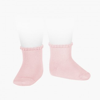 BABY SOCKS WITH OPENWORKED CUFF Pink