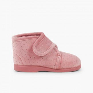Sparkling slipper boots Pale Pink