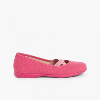 official photos ad58a 37b3b Girls Canvas Ballerinas Ballet Style – Pisamonas Online Kids Shoe Shop