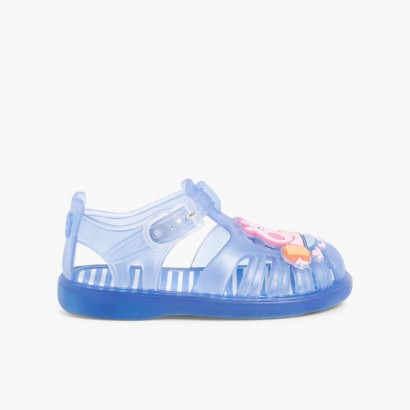 Boys George Pig Jelly Shoes Blue