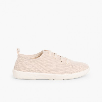 Casual Canvas Shoes Beige