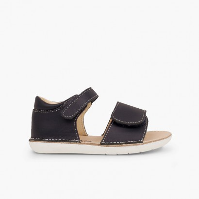 Sandals first steps double velcro Navy Blue