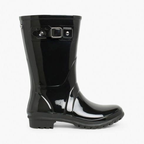 Mini Glow Wellington Boots for Women Black