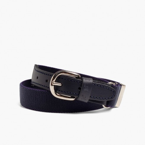 Boy's Plain Elastic Belt Navy Blue