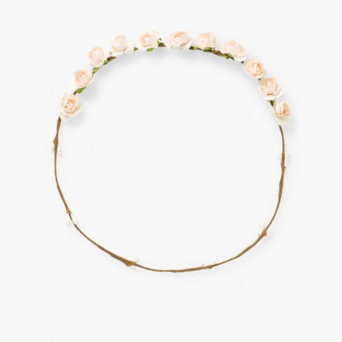 Flower Half Garland Off-White