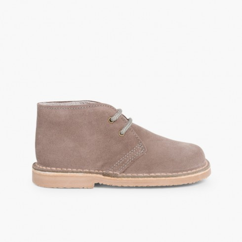 Lace-up Safari Desert Boots Grey