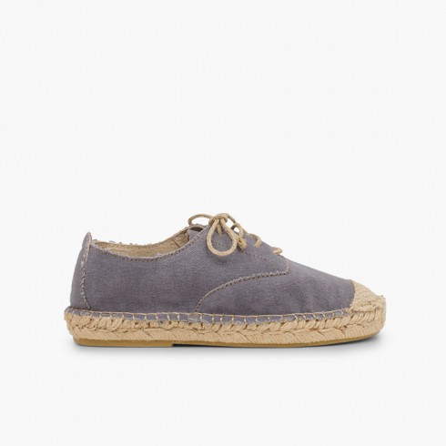 Blucher jute shoelaces and toecap Grey