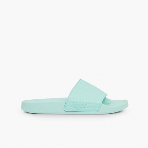 Sandals by Igor wide strap model Beach Aquamarine