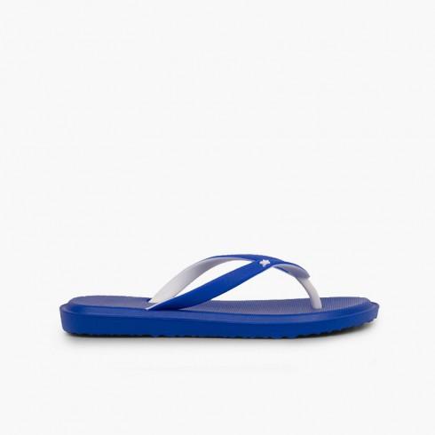 Flip flops kids beach and pool Blue
