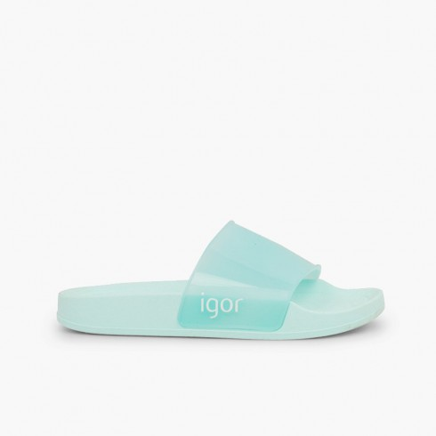 Pool sandals boys girls Beach Cristal Aquamarine