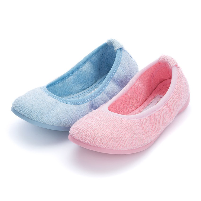 Girls Ballerina Bouclé Towelling House Slippers