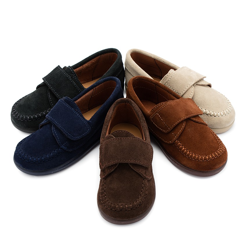 Boys Riptape Suede Loafers