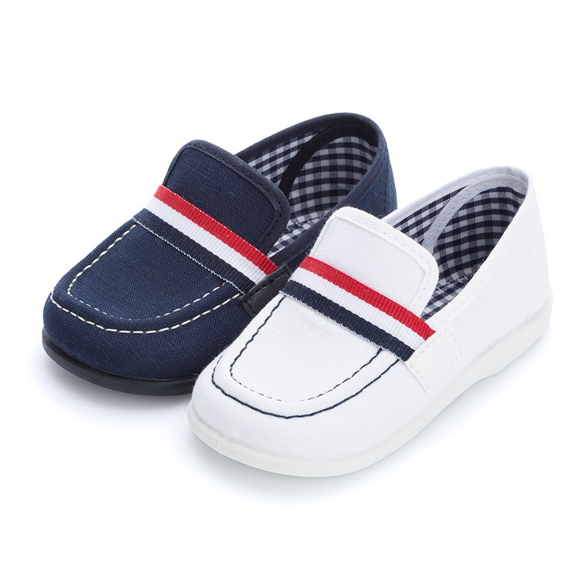 Boys Flag Style Canvas Loafers