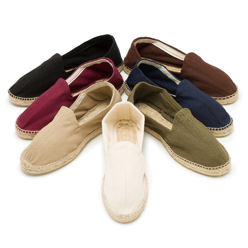 Herringbone Espadrilles Large Sizes (UK 2-10)