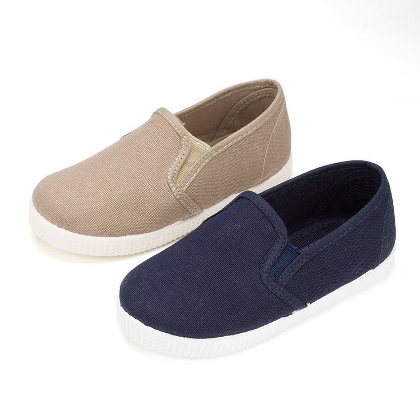 Canvas Plimsoll with Elastic