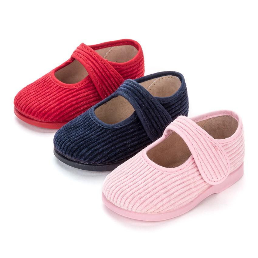 Girls Corduroy Mary Jane Slippers