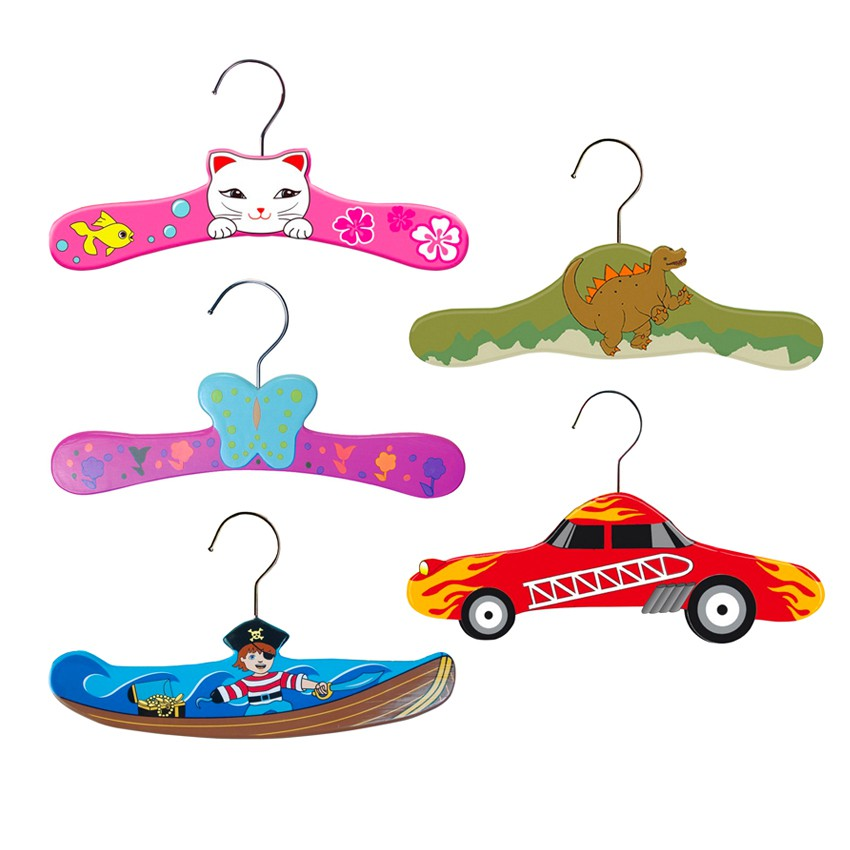 Pack Kids Wooden Hangers