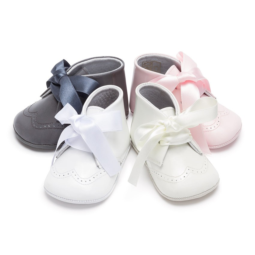 Patent Leather Booties for Baby with Bow