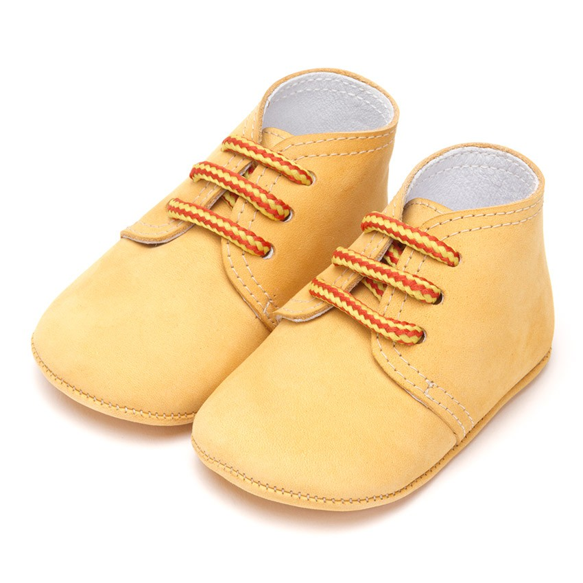Nubuck Baby Boots with Bicolour Laces
