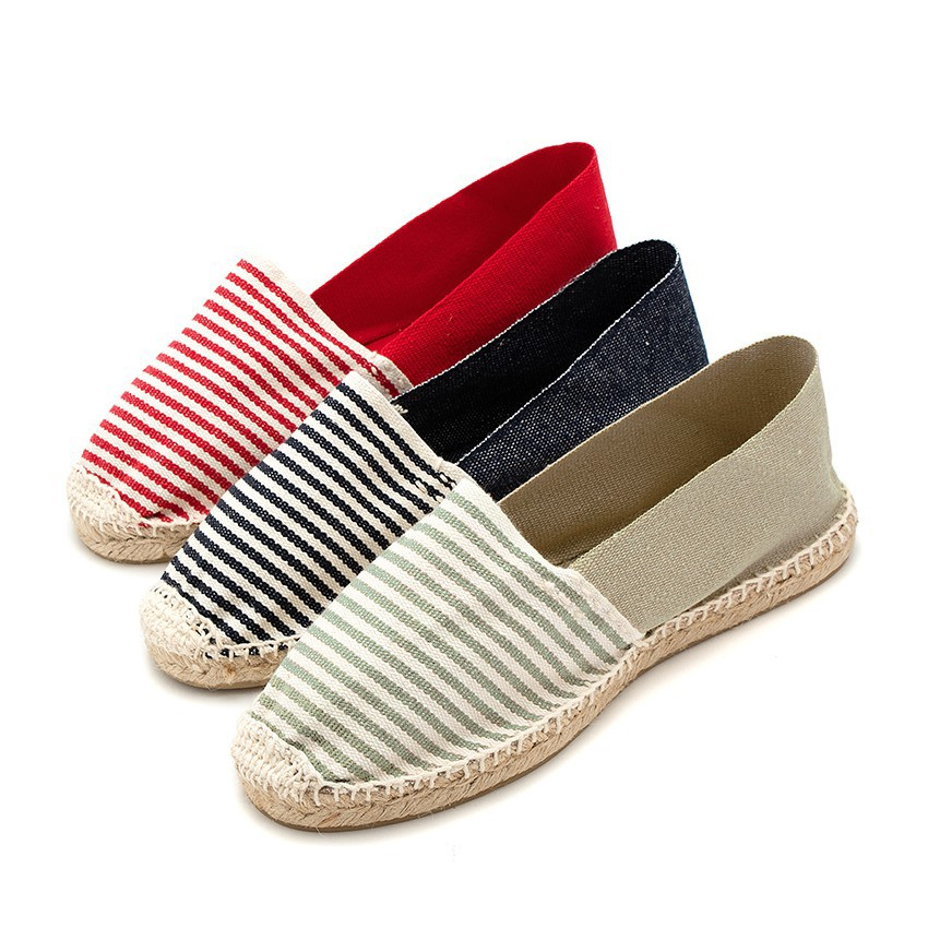 Kids & Adults Striped Two-coloured Espadrilles