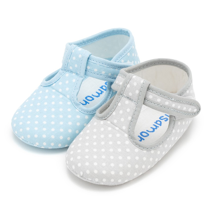 Baby Boys Polka Dot T-bar Shoes