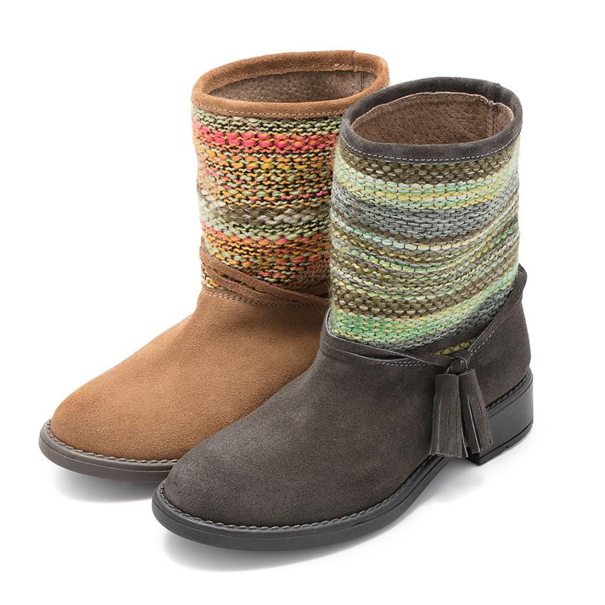 Ethnic boots boho style
