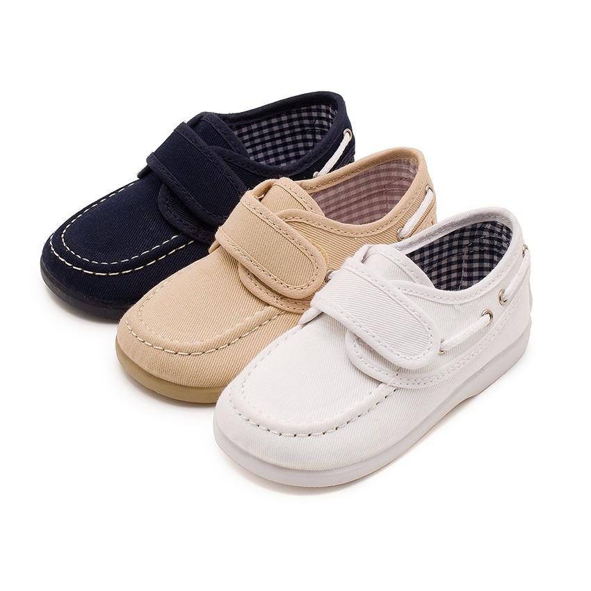 Canvas Boat Shoes Velcro