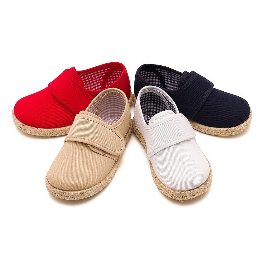 Velcro Blucher Shoes Espadrille Sole