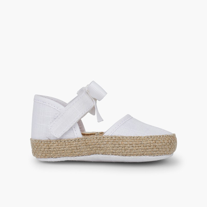 Baby Espadrilles with Bow and Butterfly Embellishment