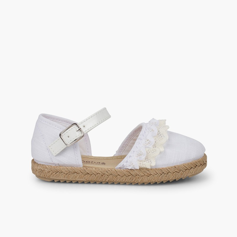 Ceremony Espadrilles with Lace