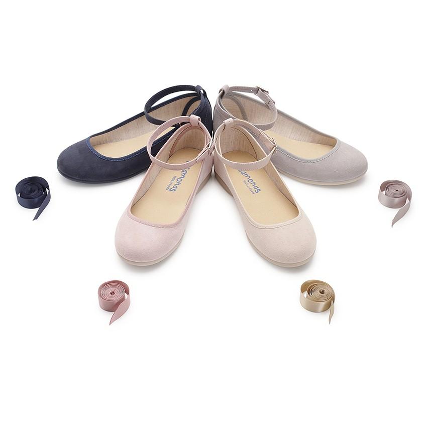 Ballet Pumps Satin Bow Anklet Strap