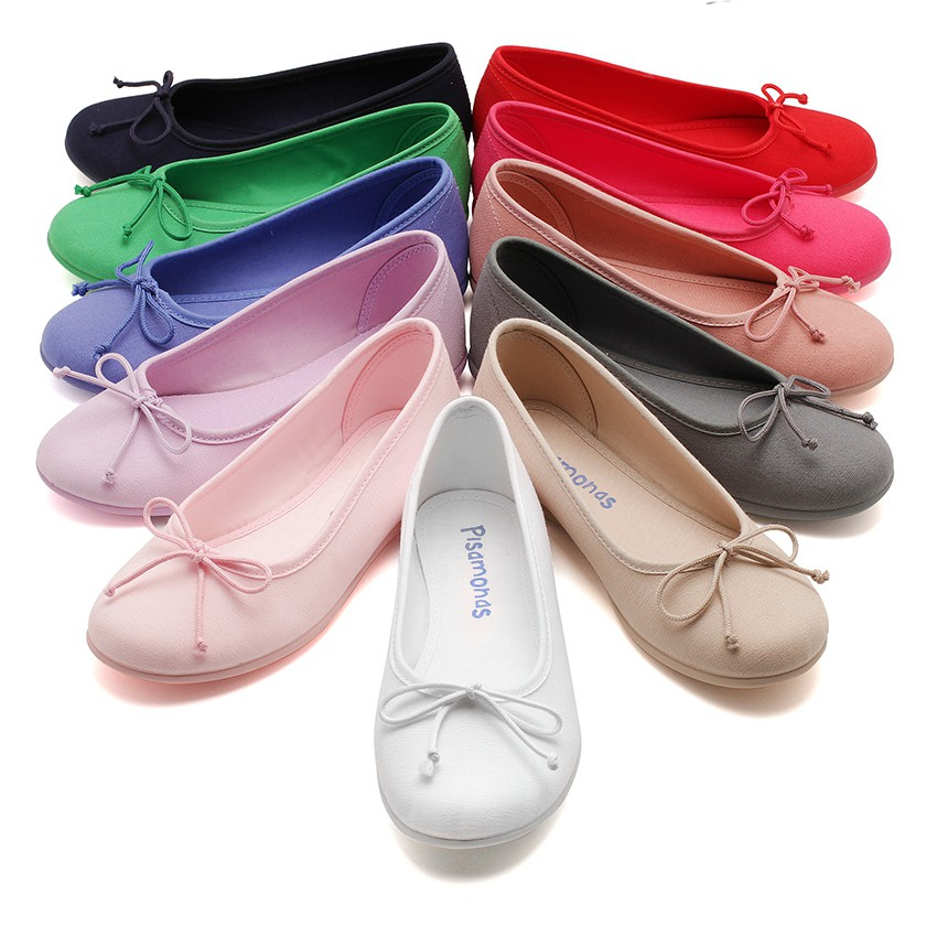 Canvas Ballerina Flats
