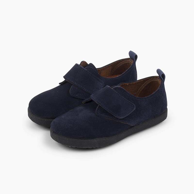 Casual velcro bluchers in suede