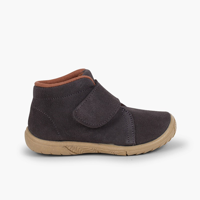 Suede Velcro Boots Reinforced Toe