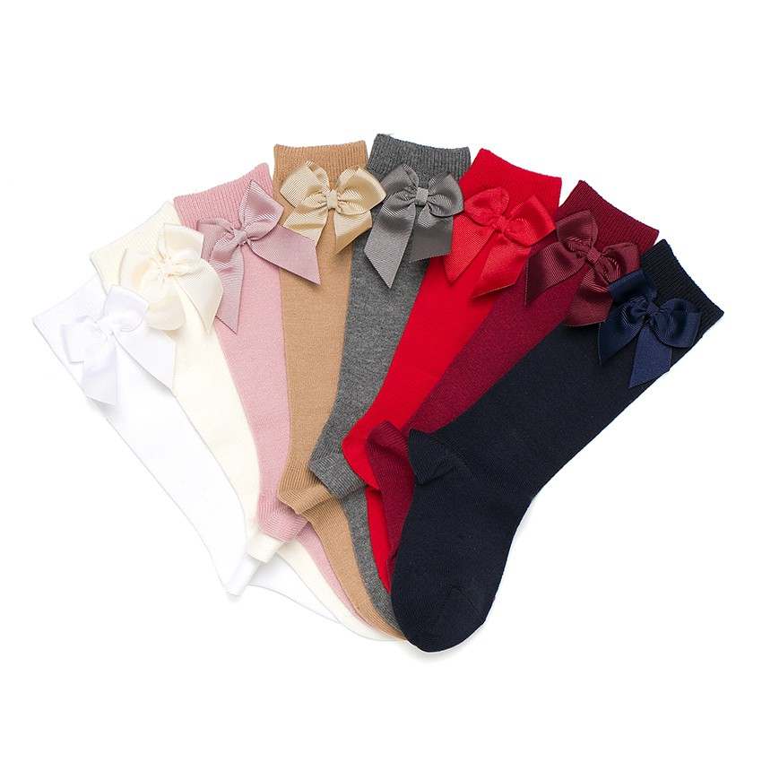 CONDOR High Socks Cotton with Bow