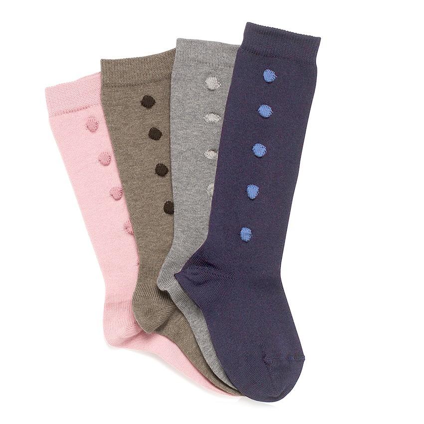 CONDOR High Socks with Polka Dots