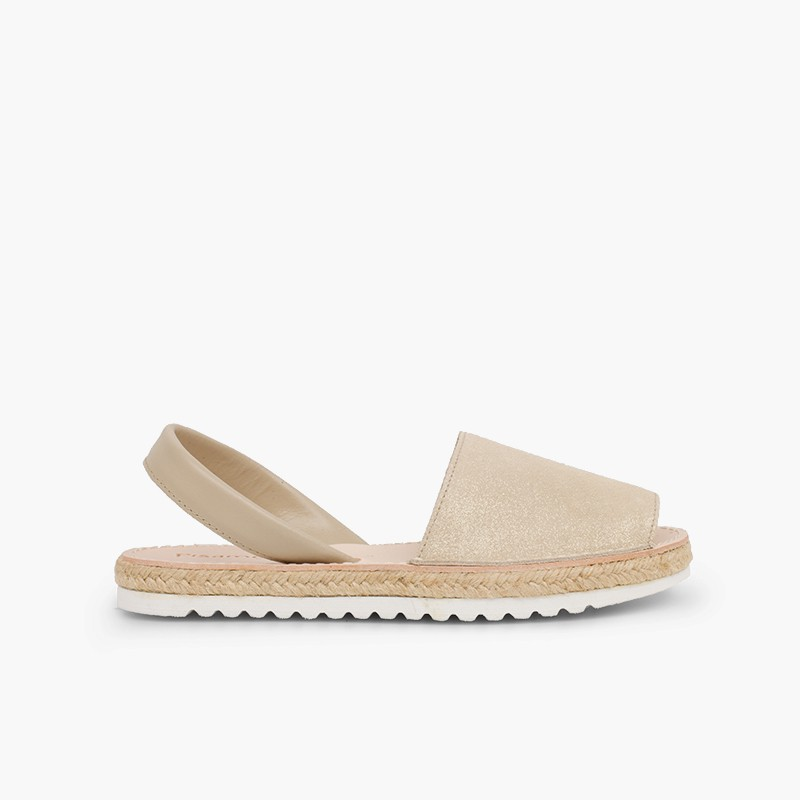 Menorcan sandals Girls and women avarcas shiny suede